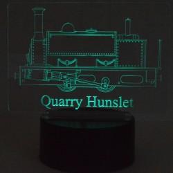 Quarry Hunslet Illuminated Plaque